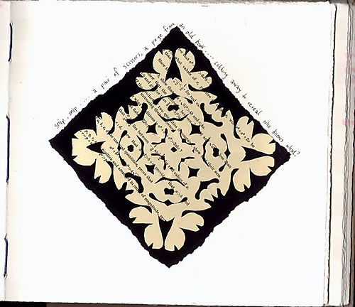 Dawns journal cutwork