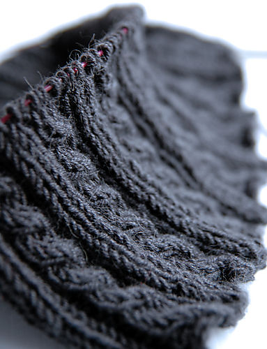 Grey cable neck warmer