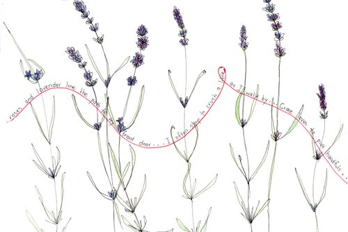 Uschi's journal lavender page