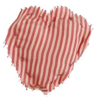Heart sewn