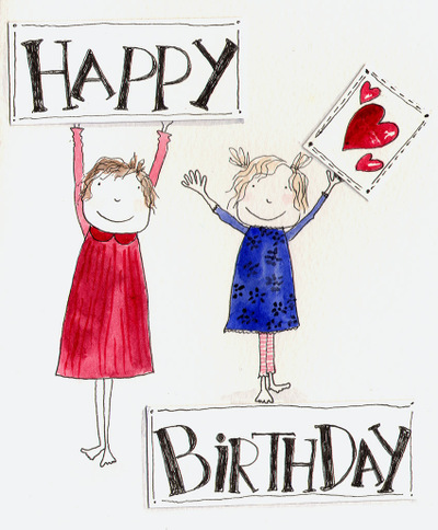 Homemade Birthday Card cartoon 1 - search ID dro0090