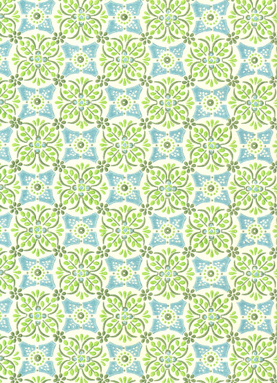 Wallpaper_blue_green_leaves_flowers
